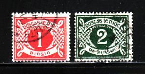 Ireland J2-J3 U Numeral, Postage Due