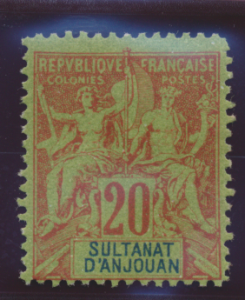 Anjouan Stamp Scott #9, Mint Lightly Hinged - Free U.S. Shipping, Free Worldw...