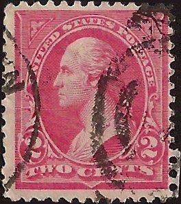 # 267a USED PINK GEORGE WASHINGTON