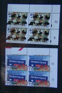 Netherlands 1994 Anniversaries and Events set in block x 4 MNH