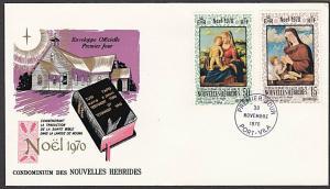 NEW HEBRIDES FRENCH 1970 Christmas commem FDC..............................55220