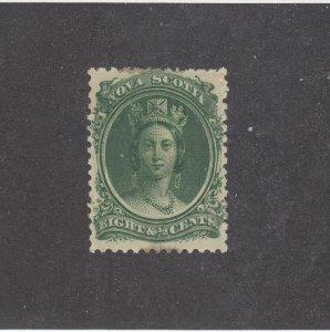 NOVA SCOTIA (MK4564)  # 11 FVF-MNH  8 1/2cts 1860-63 VICTORIA /GREEN CAT VAL $34