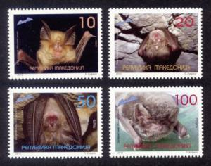 Macedonia Sc# 608-11 MNH Bats
