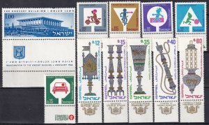 Israel #312-22 MNH With Tabs (Z5461)