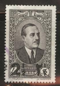 LEBANON Scott 146 used 1937 surcharged stamp