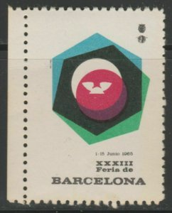 1965 Barcelona Fair Cinderella Poster Stamp Reklamemarken A7P4F782