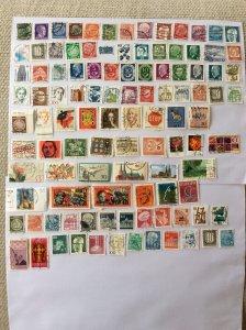German 100+ stamps - Lot O