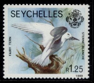 SEYCHELLES QEII SG735, 1r 25 1989 white tern, NH MINT.
