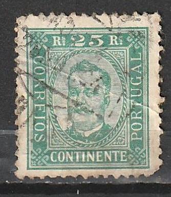 #71a Portufal Used - creased