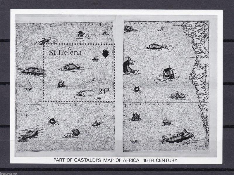 1981 St. Helena, Maps of the South Atlantic - MINT.