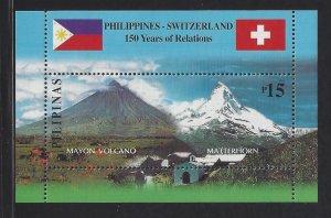 Philippines #2761 MNH S/S CV$3.00 Switzerland Diplomatic Relations