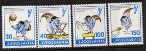 Yugoslavia 1817-20 MNH Universiade Games, Gymnastics, Fencing, Canoeing