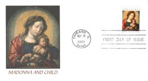 #3675 Madonna and Child Fleetwood FDC