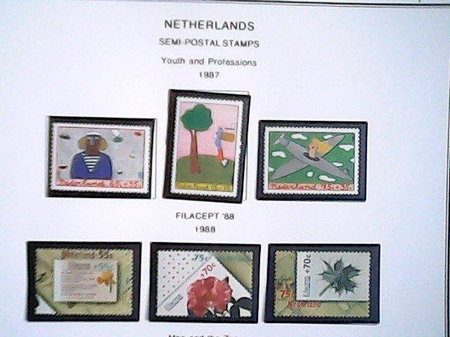 1987-88  Netherlands  Semi-Postal  MNH  full page auction
