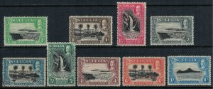 St. Lucia #95-103*  (#99 used)  CV $11.35