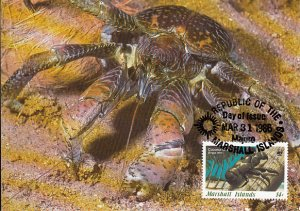 Marshall Islands 1986 Maxicard Sc #113 14c Coconut crab WWF