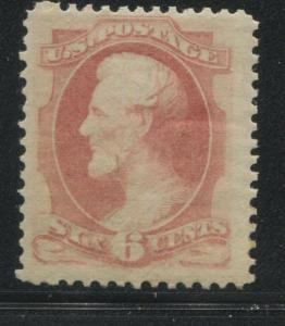1873 US Stamp #159 6c F/VF Mint Disturbed Gum Hinged Catalogue Value $375