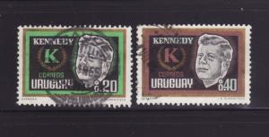 Uruguay 714-715 Set U President John F Kennedy (A)