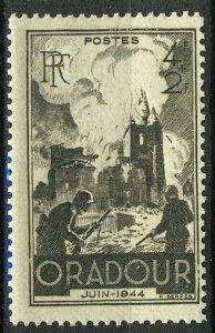 France 1945, 4+2 Fr Destruction of Oradour-sur-Glane WW2 VF MNH, Mi 734