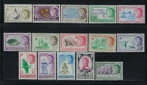 CAYMAN IS.  SCOTT #153-167 1962  QEII  PICTORIALS- MINT NEVER HINGED