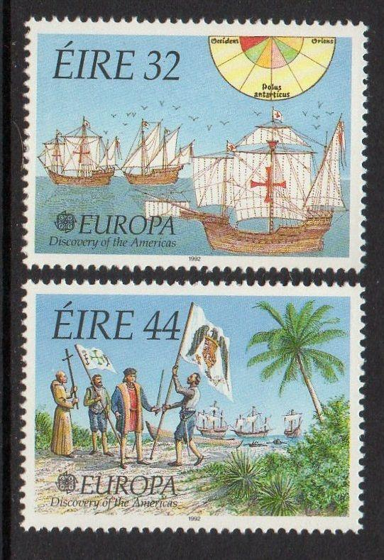 Ireland 1992 Europa Ship Columbus VF MNH (864-5)
