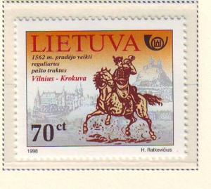 Lithuania Sc 611 1998 Vilnis Cracow Route stamp mint NH