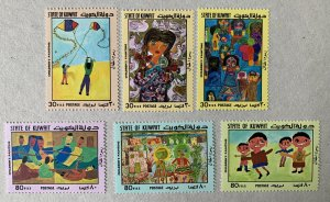 Kuwait 1979 Children's Paintings, MNH. Scott 784-789, CV $11.25,  Mi 826-831