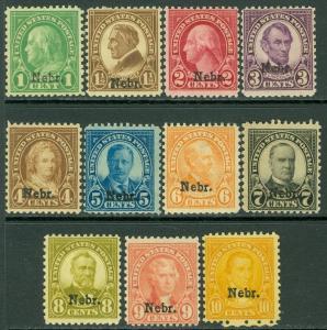 USA : 1929. Scott #669-79 Mint Og. Très Frais Ensemble Haut Valeurs Vlh.