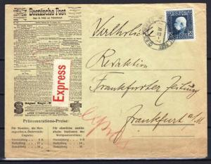 OLD AUSTRIA BOSNIA  1912. SARAJEVO EXPRESS LETTER TO GERMANY ATTRACTIVE