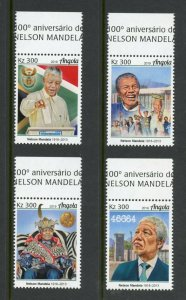ANGOLA 2019 100th BIRTH OF NELSON MANDELA  SET MINT NEVER HINGED