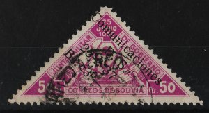 Bolivia 1937 Surcharge on 1931 stamp 50c+3B (1/2) USED