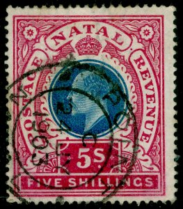 SOUTH AFRICA - Natal SG140, 5s dull blue & rose, FINE USED. Cat £12.