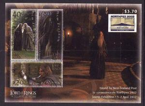 New Zealand-Sc#1755c-sheet-unused-NH-Lord of the Rings-Movie
