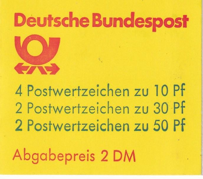 Germany #1231a Complete Booklet  CV $4.00 (A18297)