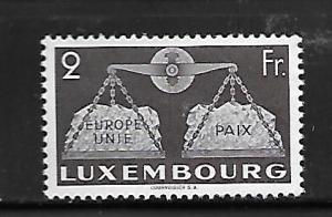 LUXEMBOURG, 274, MINT HINGED, GLOBE AND SCALES