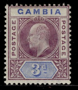 GAMBIA QV SG49, 3d purple & ultramarine, M MINT. Cat £24.