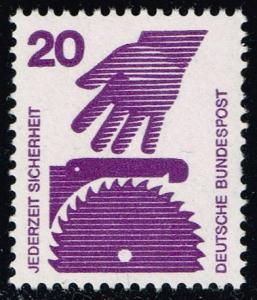 Germany #1076 Hand and Circular Saw; MNH (0.40)