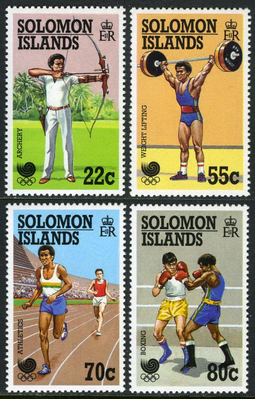 Solomon Islands 622-625, MI 687-690, MNH. Summer Olympics, Seoul, 1988