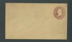 Ca 1866 U284 2c Brown On Amber Manila Mint Entire Size 7 Die 81