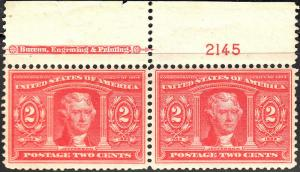 U.S. 324 FVF Plate Impt PAIR M (21718)