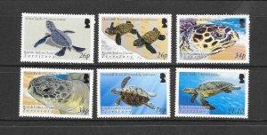 TURTLES - BRITISH INDIAN OCEAN TERRITORY #290-5  MNH