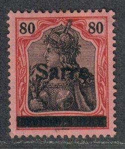 $Saar Sc#16 M/H/VF, signed, Cv. $190