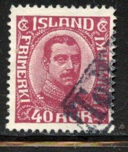 Iceland # 123, Used. CV $ 16.00. Revenue Cx