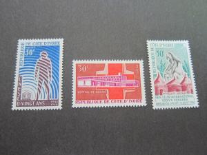 Ivory Coast 1966 Sc 249-251 set(s) MNH
