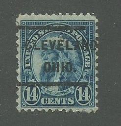 1931 USA Cleveland, Ohio  Precancel on Scott Catalog Number 695