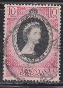 PERAK Scott # 126 Used - QEII Coronation