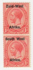 South West Africa - 1923 - SC 2 - LH - Pair