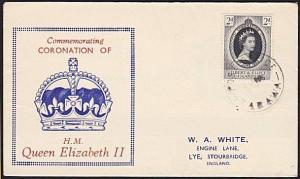 GILBERT & ELLICE IS 1953 Coronation commem FDC ex Tarawa...................68794