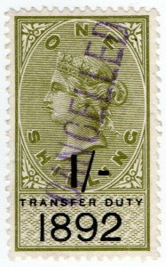 (I.B) QV Revenue : Transfer Duty 1/- (1892)