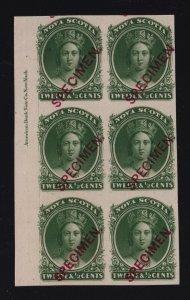 Nova Scotia Sc #13TCvi/vii/viii (1860-3) Plate Proof SPECIMEN Inscription Block